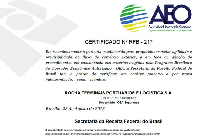 Rocha - AZ9 Certificação