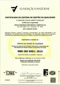 Certificação ISO 9001 Rochalog